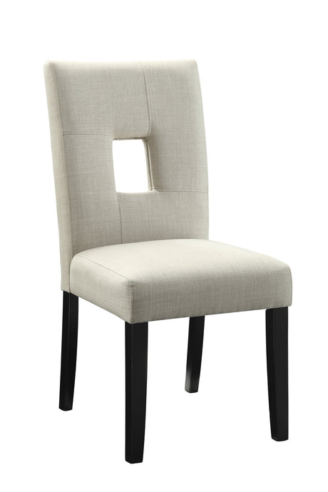 Andenne Beige Wood And Fabric Finish Dining Chair