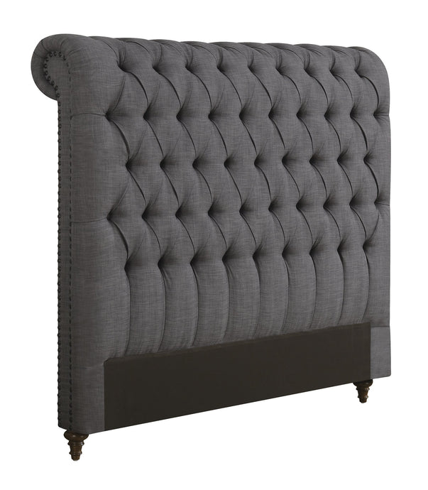 Devon Grey Fabric Cal King Headboard