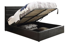 Load image into Gallery viewer, Coaster Riverbend Black Leatherette Queen Platform Bed