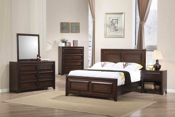 Greenough Maple Oak Full Panel Bedroom Set