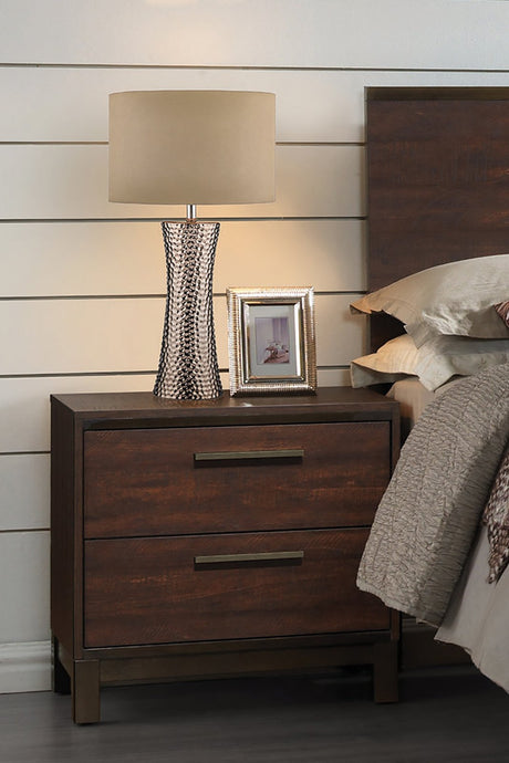 Edmonton Rustic Dark Oak Nightstand