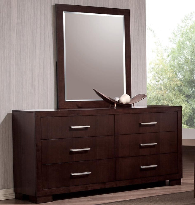 Coaster Jessica Cappuccino 6 Drawers Dresser and Mirror