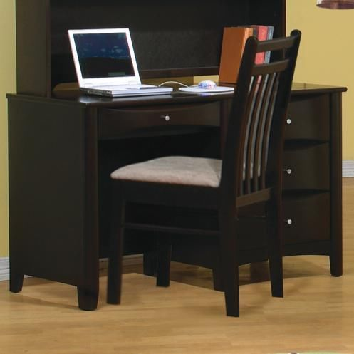 Coaster Phoenix Cappuccino Single Pedestal Computer Desk
