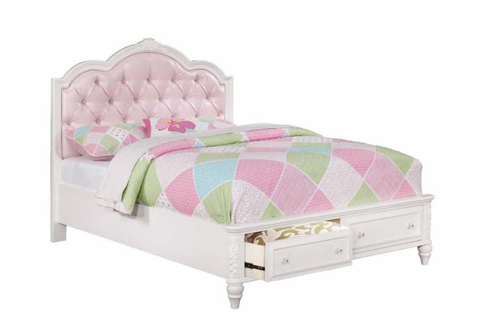 Coaster Caroline White Full Storage Bed