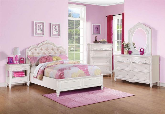 Caroline White Full Bedroom Set
