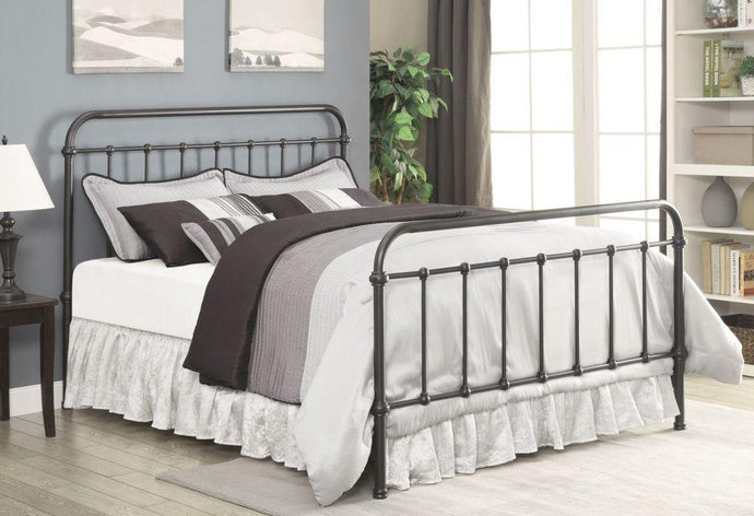 Livingston Dark Bronze Full Metal Bed