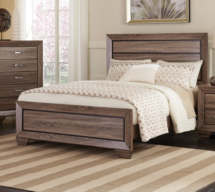 Kauffman Taupe Eastern King Bed