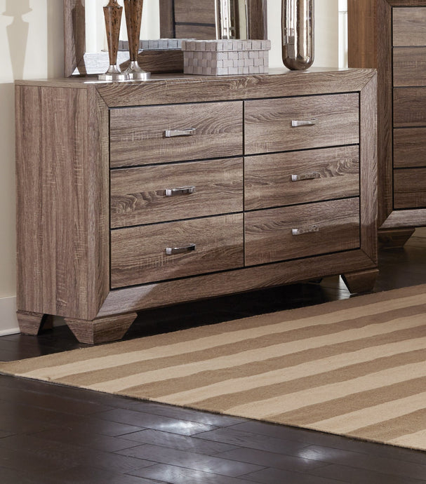 Contemporary Style Kauffman Taupe Dresser