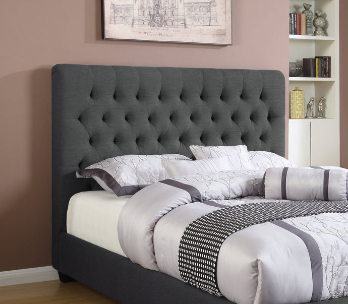 Chloe Charcoal Fabric Finish Full Headboard