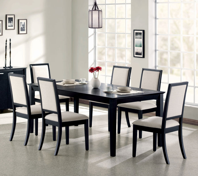 Coaster Louise Black 7 Piece Dining Table Set