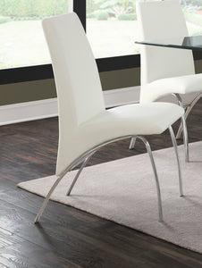 Coaster Ophelia White Side Chair Set of 2