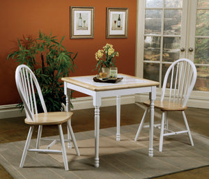 Damen Natural Brown and White Dining Table Set