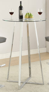 Coaster Chrome Glass Top Bar Table