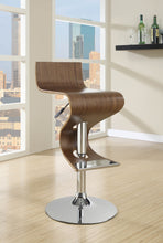 Load image into Gallery viewer, Coaster Walnut Wood And Chrome Finish Bar Stool