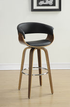 Load image into Gallery viewer, Coaster Walnut and Black Wood Finish Bar Stool