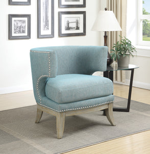 Coaster Contemporary Style Blue Accent Chair