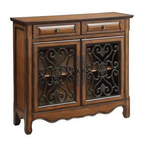 Coaster Contemporary Style Brown Accent Cabinet