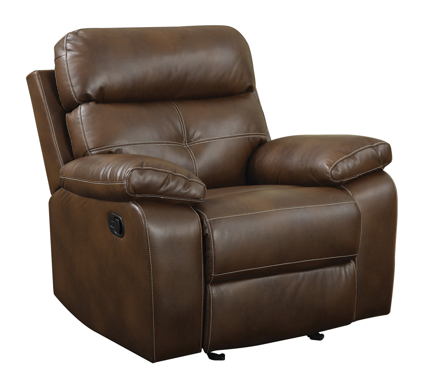 Homy Living Damiano Brown Breathable Leatherette Finish Recliner Chair