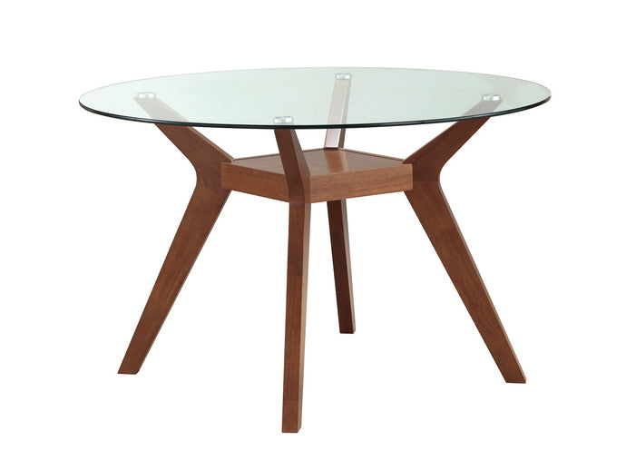 Nutmeg Paxton Round Glass Top Dining Table
