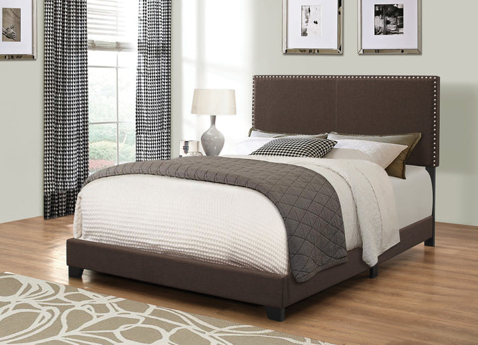 Homy Living Boyd Brown Fabric Upholstered California King Bed