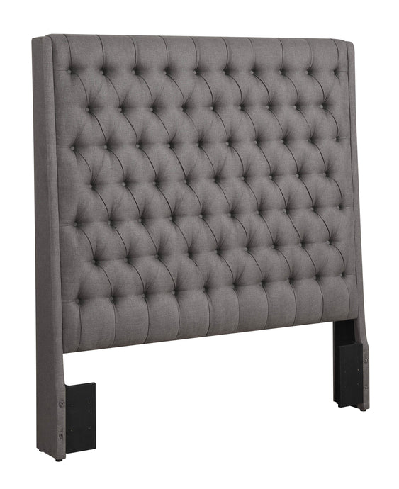 Grey Fabric Sollee Upholstered Cal King Headboard