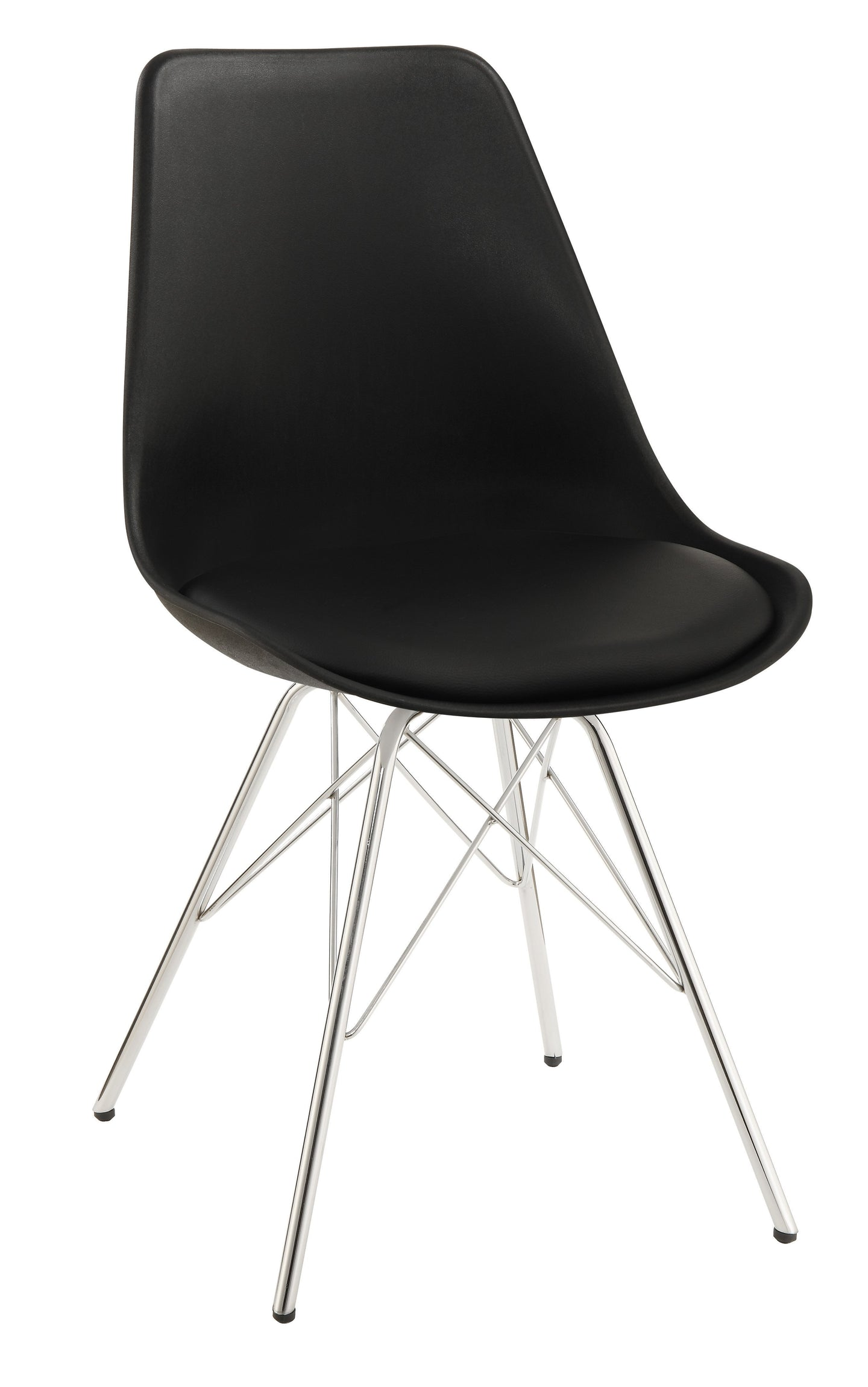Homy Living Lowry Black Finish 2 Piece Dining Side Chair