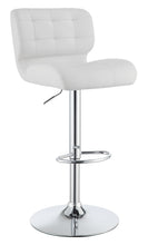 Load image into Gallery viewer, Coaster White Color Adjust Bar Stool Set of 2