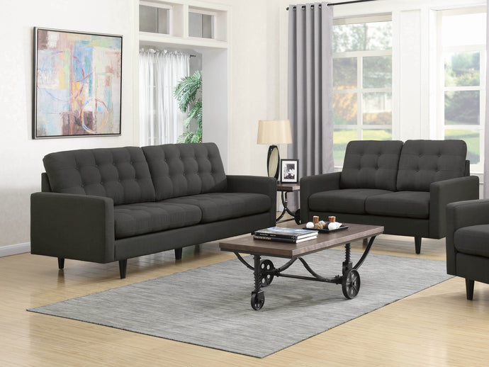 Kesson Charcoal Sofa and Loveseat