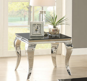Abildgaard Living Room Glass Top End Table