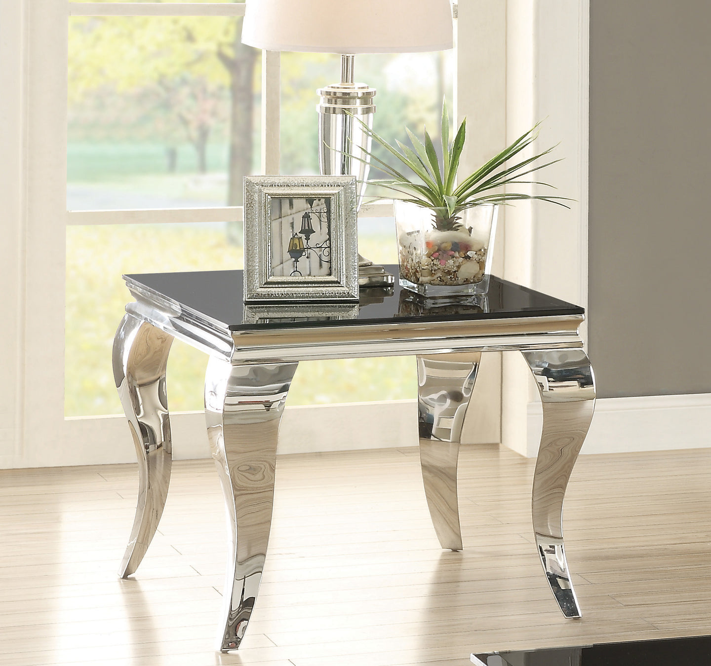 Coaster Abildgaard Living Room Glass Top End Table