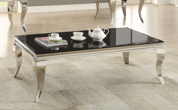 Coaster Abildgaard Living Room Glass Top Coffee Table