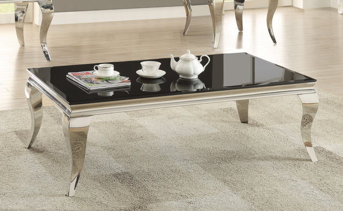 Abildgaard Living Room Glass Top Coffee Table