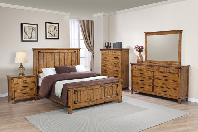 Brenner Rustic Honey Full Bedroom Set