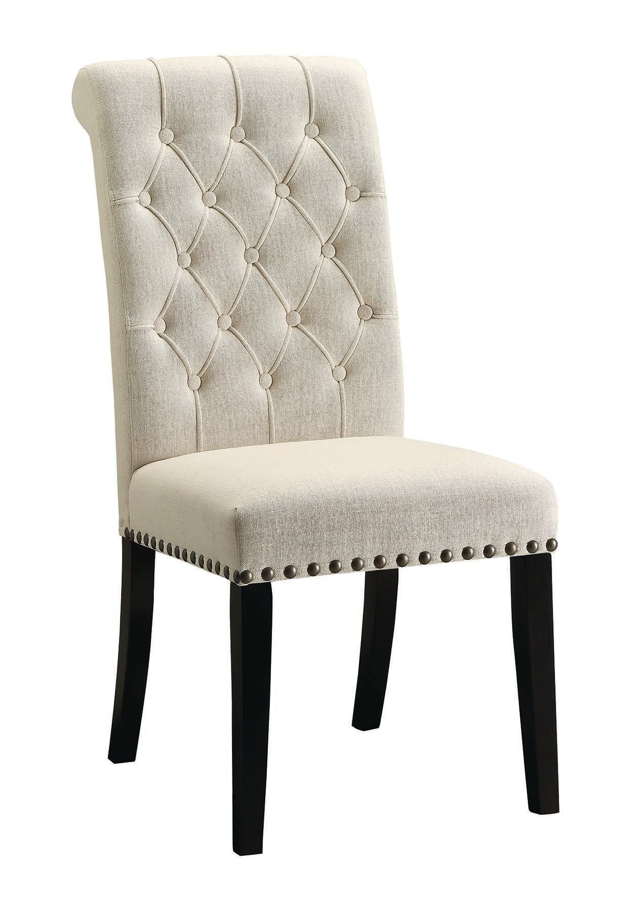 Homy Living Parkins Cream Fabric And Wood Finish 2 Piece Dining Chair