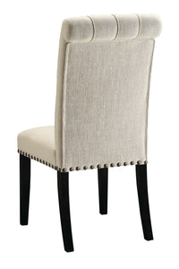 Coaster Parkins Cream Fabric Side Chair Set of 2