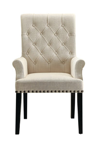 Coaster Parkins Cream Fabric Arm Chair Set of 2