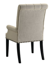 Load image into Gallery viewer, Coaster Parkins Cream Fabric Arm Chair Set of 2