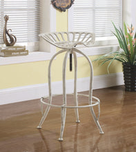 Load image into Gallery viewer, Coaster Antique White Finish Adjustable Bar Stool