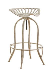 Coaster Antique White Finish Adjustable Bar Stool