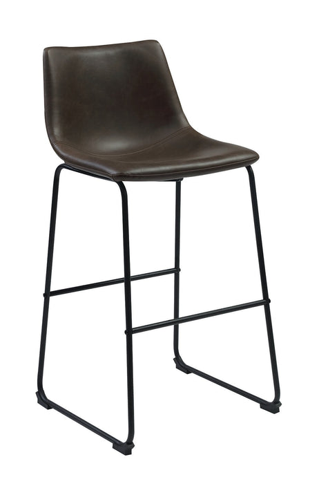 Two Tone Brown Finish Leatherette Bar Stool