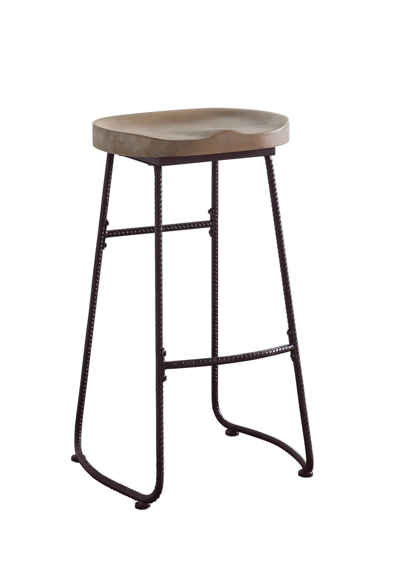 Dark Bronze Wood Finish Bar Stool