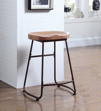 Load image into Gallery viewer, Coaster Dark Bronze Finish Counter Height Stool