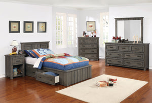 Coaster Napoleon Youth Gunsmoke 4 Piece Twin Bedroom Set