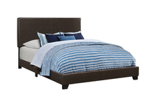 Load image into Gallery viewer, Coaster Dorian Black Leatherette Upholstered Queen Bed