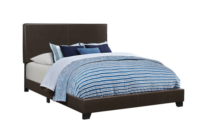 Coaster Dorian Black Leatherette Upholstered Queen Bed