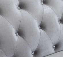 Load image into Gallery viewer, Coaster Frostine Silver Velvet And Wood Finish 3 Piece Sofa Set