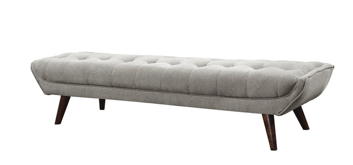 Homy Living Natalia Dove Grey Chenille Fabric Finish Bench