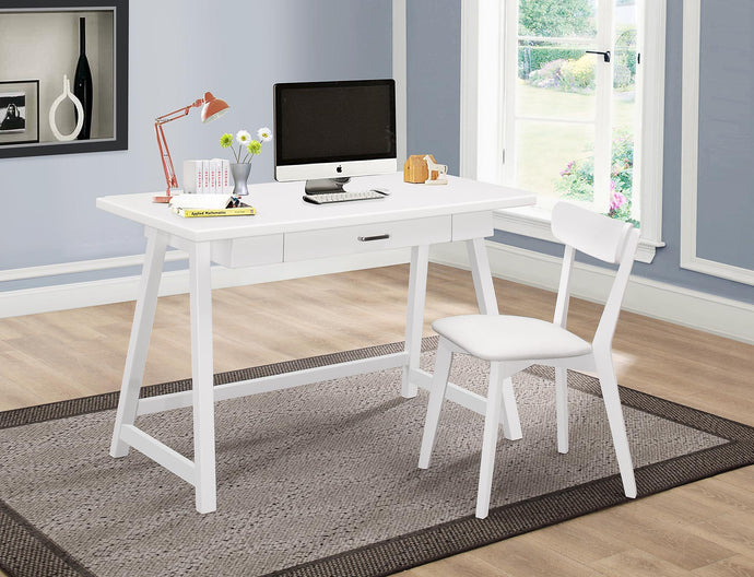 Coaster Siobhan White 2 Piece Office Desk Set