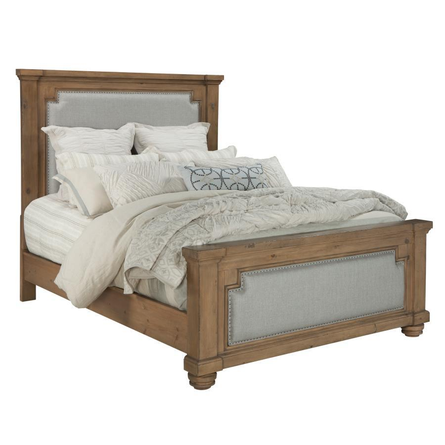 Homy Living Florence Rustic Oak Wood Finish Eastern King Bed