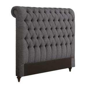 Devon Grey Finish Upholstered Full Size Headboard